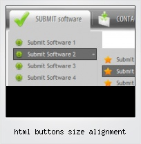 Html Buttons Size Alignment