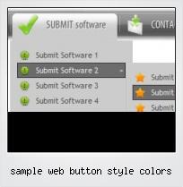 Sample Web Button Style Colors