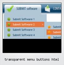 Transparent Menu Buttons Html