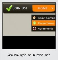 Web Navigation Button Set