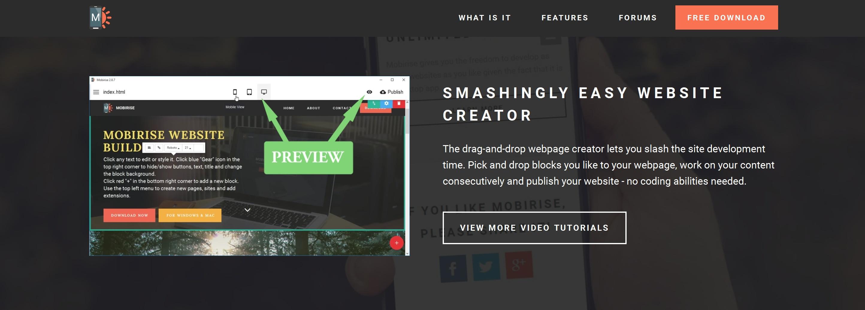 Responsive Simple Website Builder