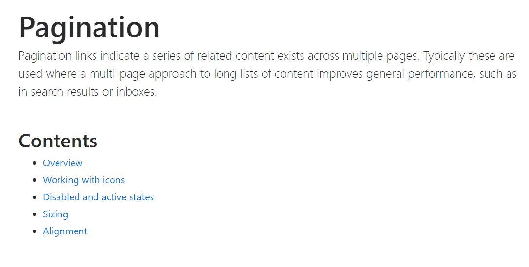 Bootstrap pagination  approved documentation