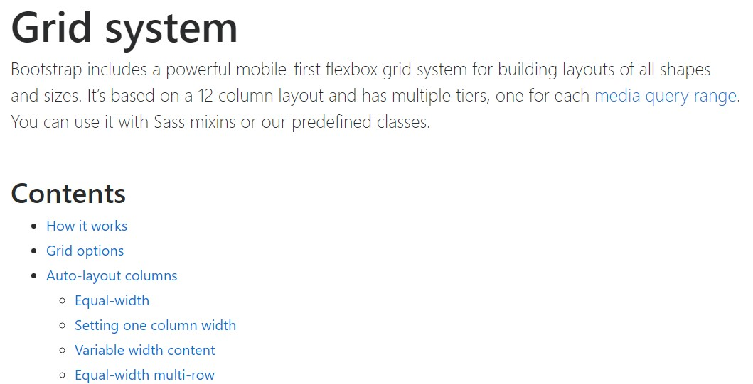 Bootstrap grid  main  documents