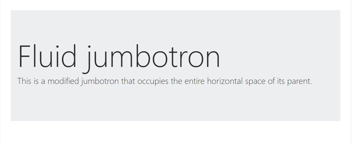 Fluid jumbotron