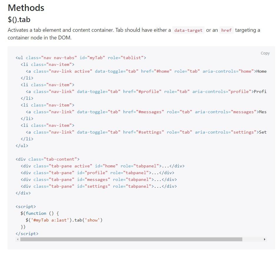 Bootstrap Nav-tabs: formal  records
