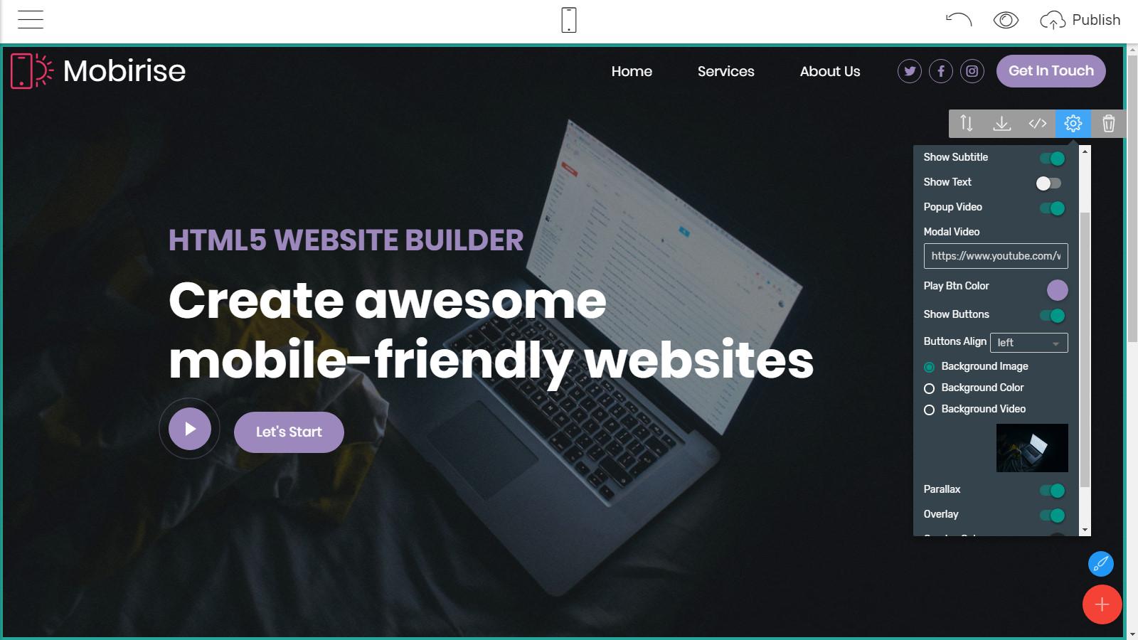 responsive webpage themes